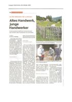 thumbnail of (2020-10-08) Altes Handwerk, junge Handwerker