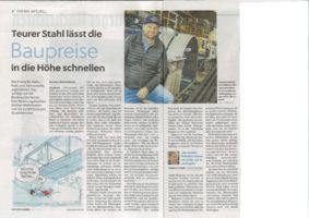 thumbnail of (2021-04-08) Teurer Stahl lässt die Baupreise in die Höhe schnellen