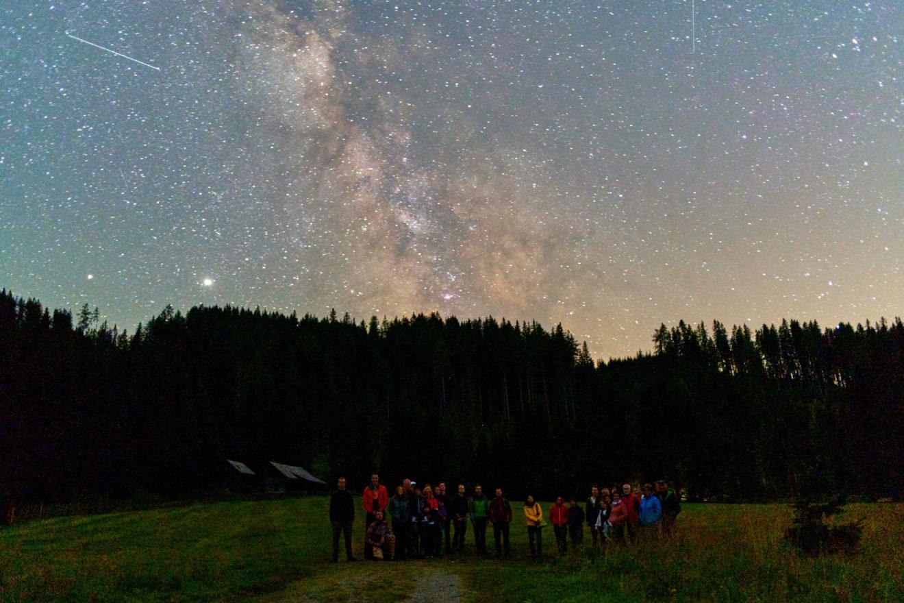 Eindrücke von der Sternenwanderung am 8. August