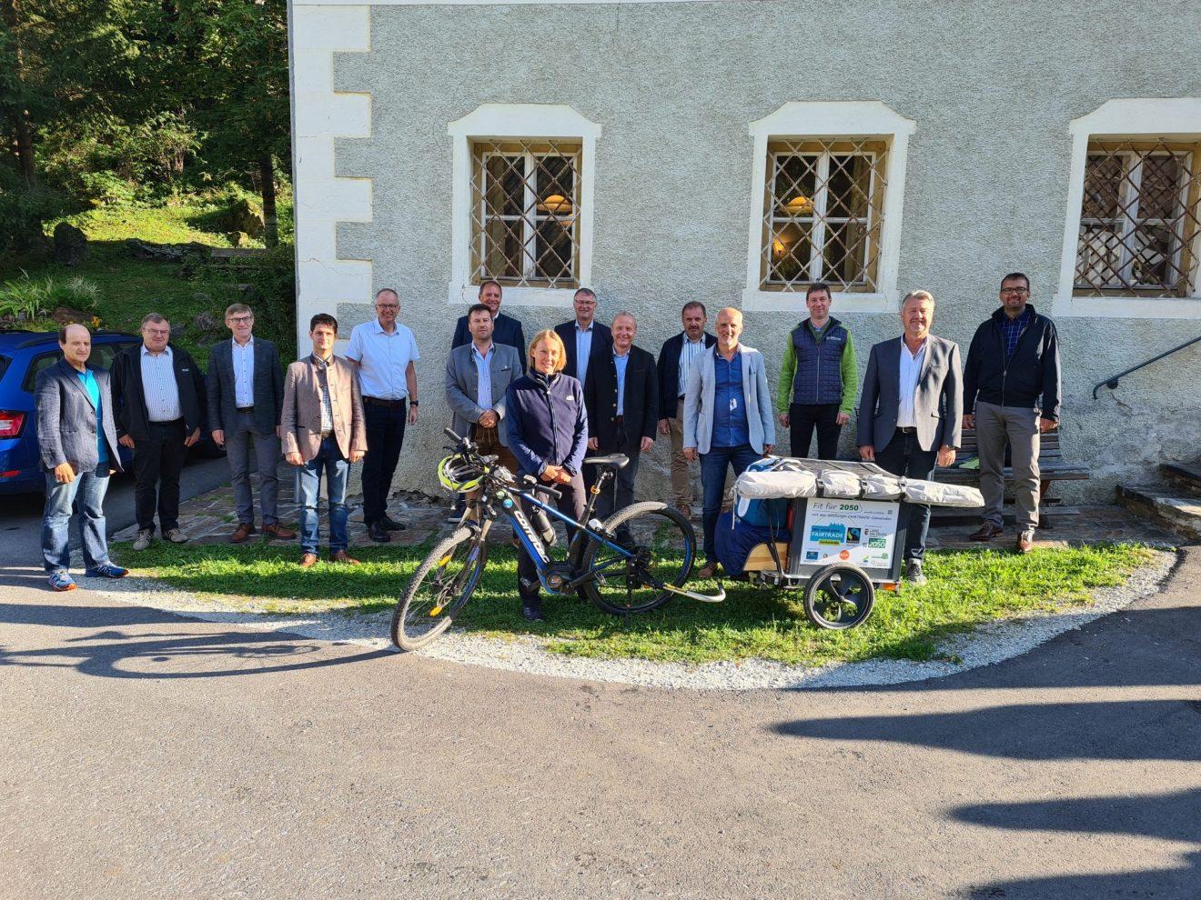 Mit dem Fahrrad unterwegs für Fair Trade