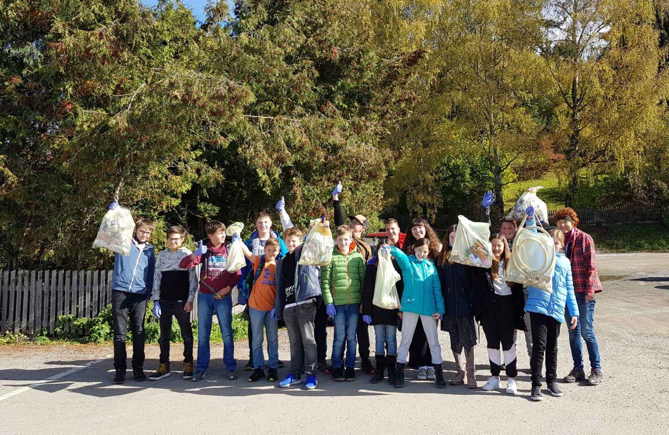 Müllsammelaktion in der Mittelschule Tamsweg